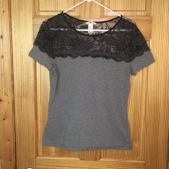 H&M Tops - H&M Lace Top T-shirt
